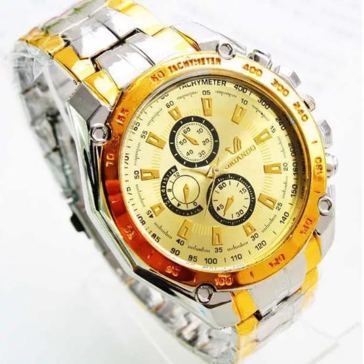 Fashion Wrist Watch Men Male Luxury Quartz Stainless Steel Wristwatches Gentlemen Valentines Gift gold one size