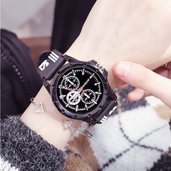 Fashion Wrist Watch Men Women Lovers Wristwatch Simple Casual Sport Style Creative Watches black one size