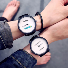 Fashion Wrist Watch Men Women Lovers Wristwatches Creative Casual Simple Words Watches You are my boy one size