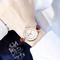 Fashion Wrist Watch Women Ladies Rhinestone Simple Candy Style Wristwatches Quartz Waterproof Watch brown watchband one size