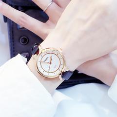 Fashion Wrist Watch Women Ladies Rhinestone Simple Candy Style Wristwatches Quartz Waterproof Watch black watchband one size