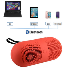 Bluetooth Wireless Speaker Portable Subwoofer Stereo Mini Musical Subwoofer Loud speaker red