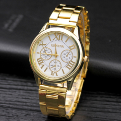 Fashion Wrist Watch Men Women Luxury Quartz Stainless Steel Wristwatches Lovers Couples Gift white one size