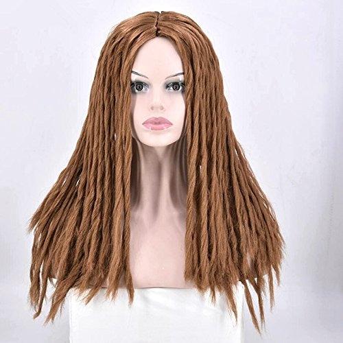 Full Dreadlocks Hair Wig Long Curly Rolls Twist Braids Synthetic ... dd1d5a8119