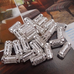 100 pcs dreadlock Beads dread hair braid adjustable cuff tube clip 15mm Silver 15MM
