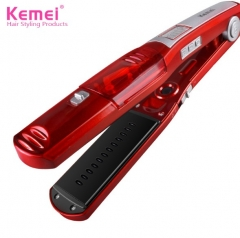 Steam Comb Straightening Hair Irons Automatic Straight Hair Brush Ceramic Hair Straightener red nomal