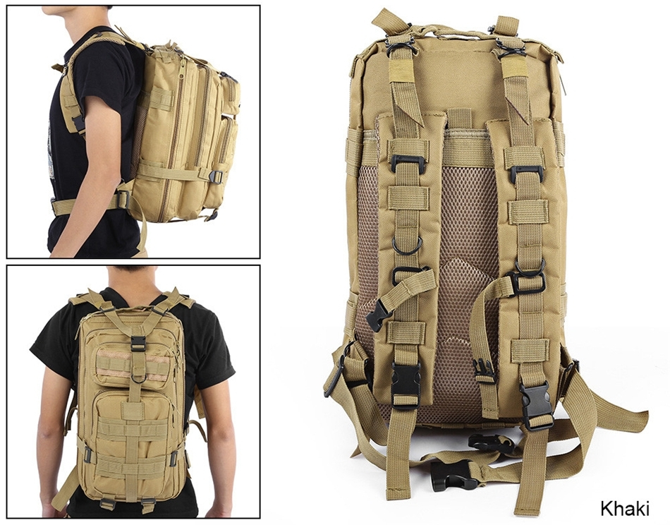 ae31765a0c ADRA 3P Tactical Military Backpack Oxford Outdoor Sport Bag for Camping  Traveling Hiking Trekking Khaki 30L  Product No  1435510. Item specifics   Brand