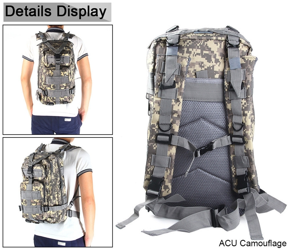 ADRA 3P Tactical Military Backpack Oxford Outdoor Sport Bag for ... 07a6e982041f7