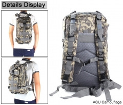 ADRA 3P Tactical Military Backpack Oxford Outdoor Sport Bag for Camping Traveling Hiking Trekking ACU 30L
