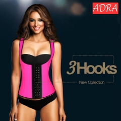 ADRA Women's Latex Sport Girdle Waist Training Corset Waist Body Shaper Black m