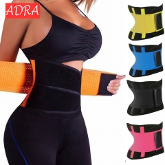 ADRA Women's Waist Trainer Body Shaper Workout Waist Cincher Belt Sport Trimmer Girdle Shaperwear blue s