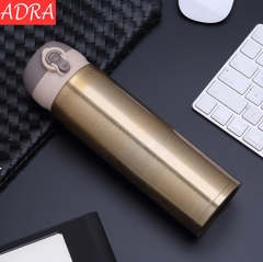 ADRA 500ML Stainless Steel Insulation Cup Portable Car Cup Camping Travel Coffee Mug Golden