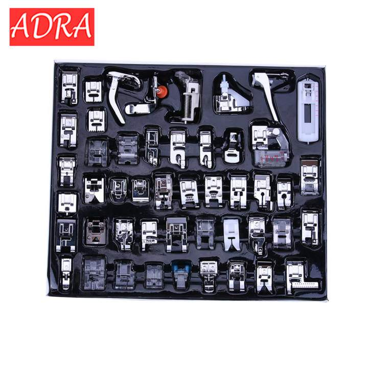 32/42/52pcs Domestic Sewing Machine Feet Presser Foot Accessories Kits For Brother Singer Janome 32pcs