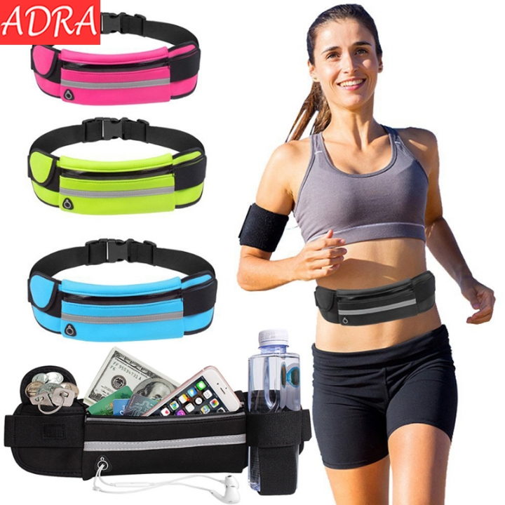 ADRA Kettle Pocket Fitness Cycling Running Pockets Waterproof Anti-theft Mobile Phone Pockets Black One Size