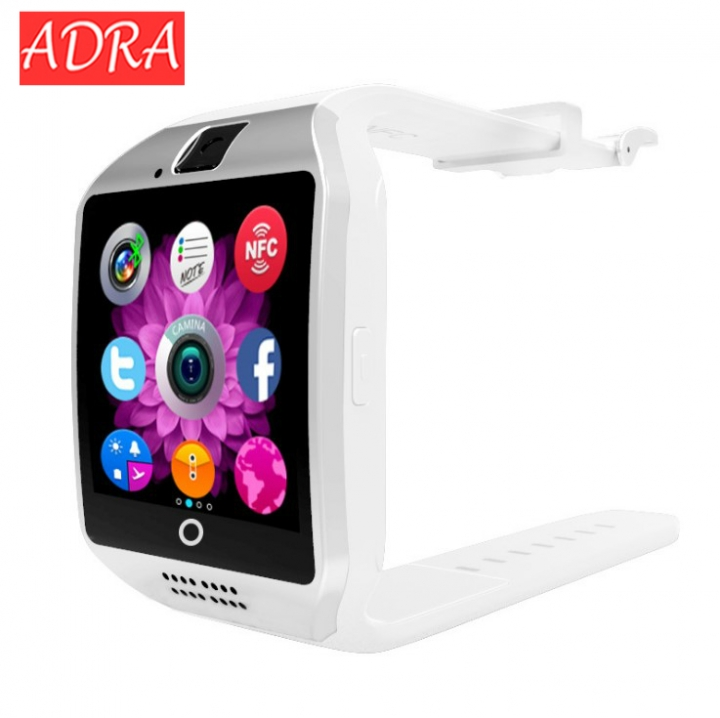 Smartwatch Q18 with Touch Screen Camera TF Card 3.0 Version Bluetooth for Android IOS Phone white one size