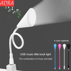 ADRA USB Port Night Light With Bluetooth Speaker Desk Table LED Light Sound Lamp With Music Speaker White One Size