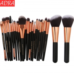 ADRA 22pcs Fashion Ladies Cosmetic Makeup Brush Beauty Tools Blusher Eye Shadow Brushes Set Black