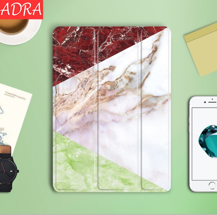 ADRA iPad Cover Tablet Sleep All-inclusive Shatter-Resistant Silicone Shell Red+Green iPad 9.7