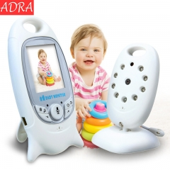 ADRA Home Security System Night Vision CCTV Camera Remote Control Wireless Baby Monitor White UK Plug