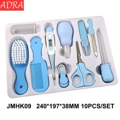 ADRA 10Pcs/set Portable Newborn Baby Tool Kids Grooming Kit Safety Cutter Nail Care Set For Children blue nomal