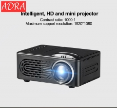 ADRA 1080P Home Theater Movie Croyale LED Projectors Video Projector high-definition projection Black one size