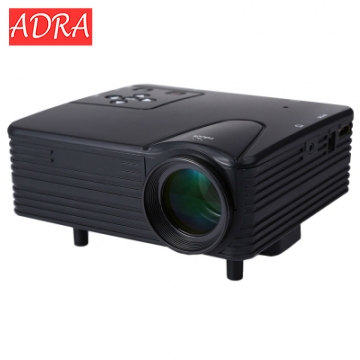 ADRA H80 Full HD 1080P Mini LED Projector Home Movie TV Cinema Theater  Video Projector black one size