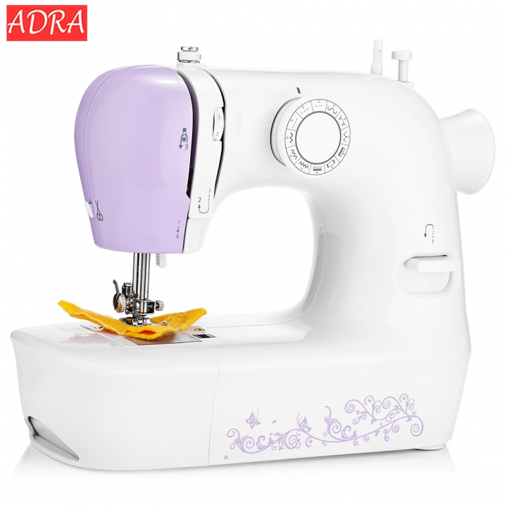 ADRA New 1803 Household Mini Automatic Thread Sewing Machine Double Speed with 12 Different Stitches eu plug