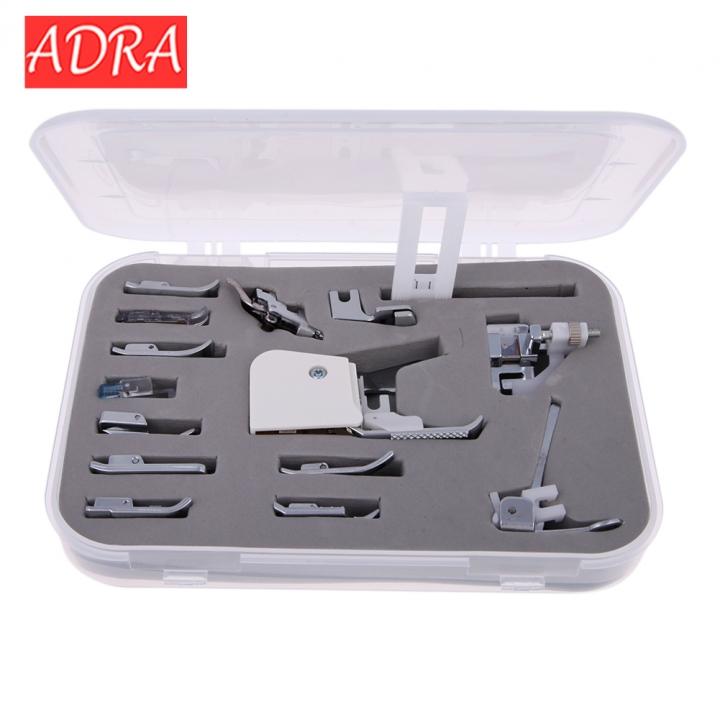ADRA Sewing Machine Presser/Walking Feet Kit 15 in 1 Set sewing machine/sewing machine presser foot as pictures