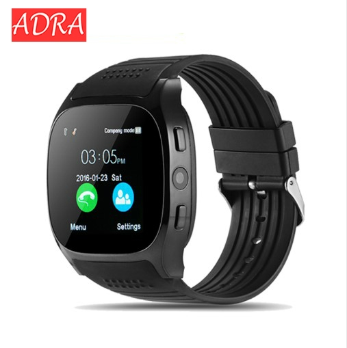 T8 Bluetooth Smart Watch Support SIM TF Card LBS Locating with camera smartwatch Sports Wristwatch black one size