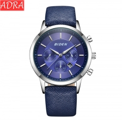 ADRA Waterproof Fashion Men's Watch Simple Belt Student Casual Trend Watch Fake Six Needle Blue One Size