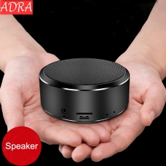 ADRA Mobile Phone Wireless Bluetooth Speaker Outdoor Mini Audio Card Portable Subwoofer Black One Size