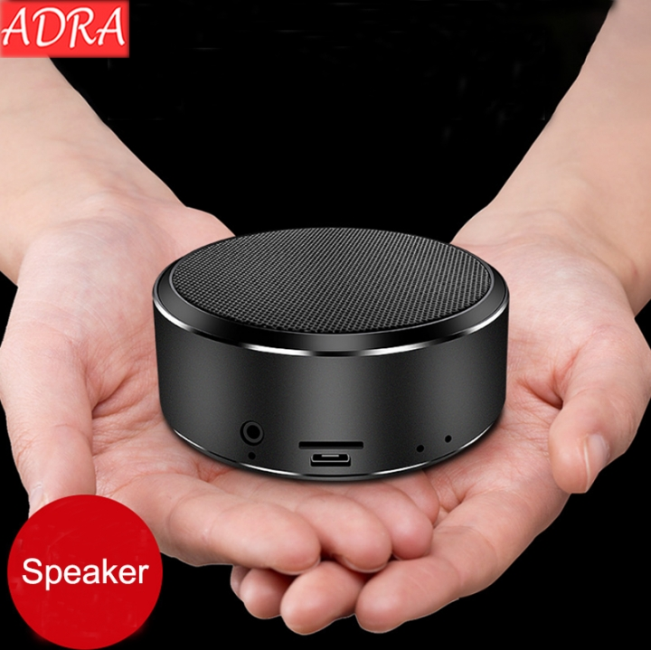 ADRA Mobile Phone Wireless Bluetooth Speaker Outdoor Mini Audio Card Portable Subwoofer Black One Size