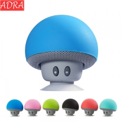 ADRA Mushroom Head Wireless Bluetooth Speaker Creative Portable Desktop Phone Holder Mini Speaker Blue One Size