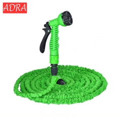 25FT-100FT Garden Expandable Magic Flexible Water Hose Plastic Hoses Pipe With Spray Gun To Watering Green 25FT