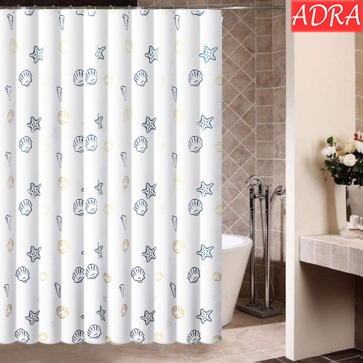 ADRA Polyester Shower Curtain Thicken Waterproof And Mildewproof Bathroom Shower Curtain As pictures W0.8*H1.8m