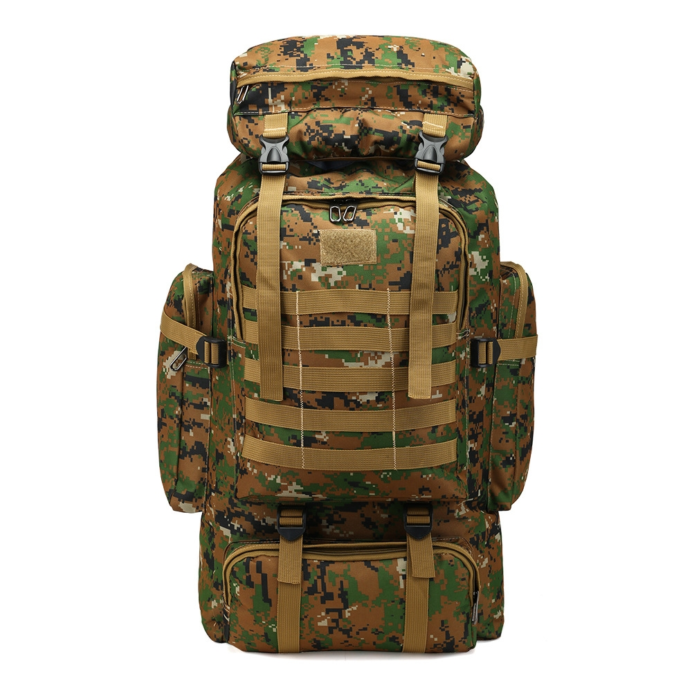 6e11c9b44c51 80L Large Capacity Mountaineering Backpack Camping Hiking Military ...