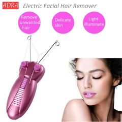 Mini Electric Body Neck Leg Face Facial Hair Remover Defeatherer Thread Epilator Shaver Removal Pink one size