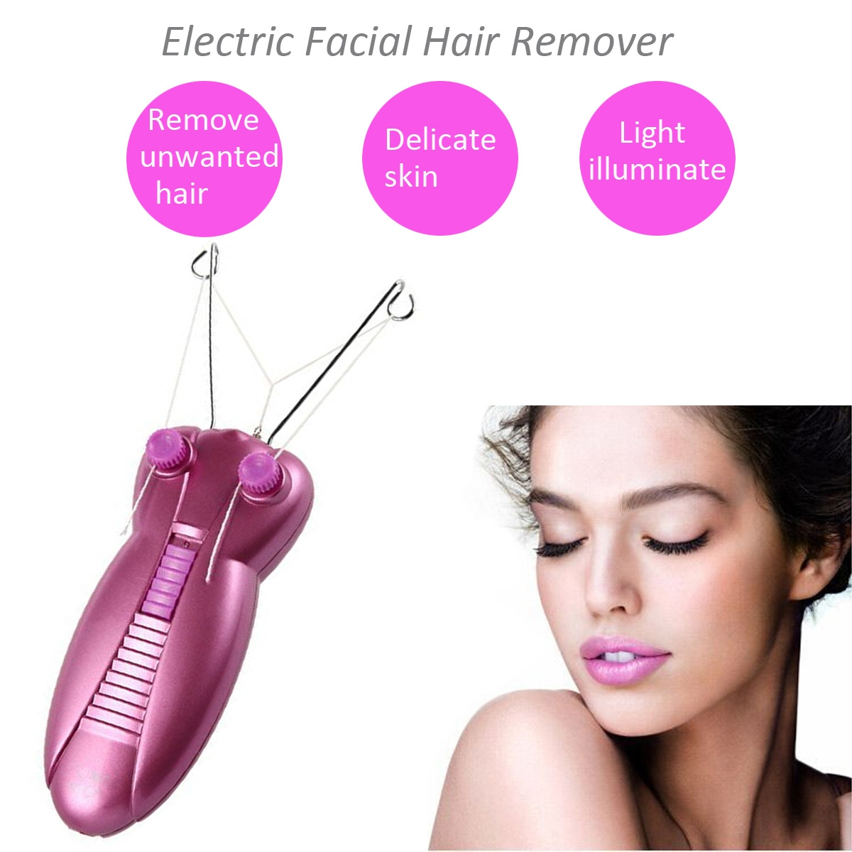 Nice 1set Professional Electric Female Body Face Facial Hair Remover Cotton Thread Depilator Shaver Lady Beauty Care Machine Hair Removal Cream Beauty & Health