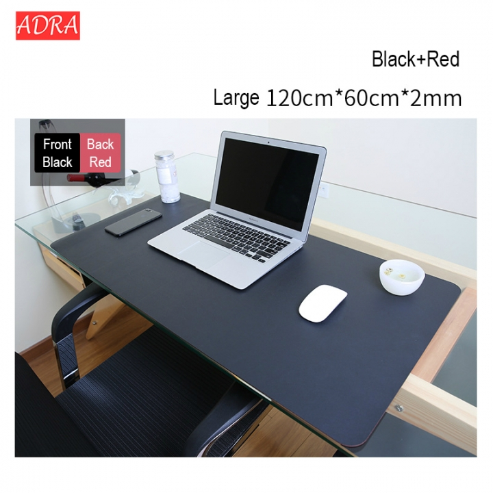 Leather Double Side Mouse Pad Large size Notebook Computer Mousepad Gaming Mouse double sided black+red S