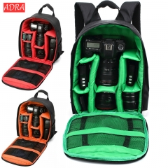 Multifunctional Digital DSLR Camera Bag Waterproof SLR photography Backpack For Nikon Canon Sony red one size