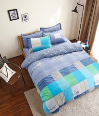Bedding Sets Sweetheart Style Creativity Space Duvet Cover Set Quilt Cover Bed pink blue stripes 32 1.2M 3pcs/set