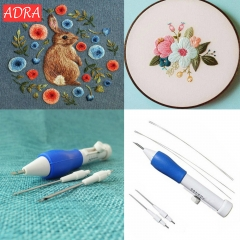 Embroidery Poking Cross Stitch Punching Needle Crochet Embroidery Knitting Needles Craft Sewing Tool Type A one size