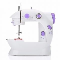 ADRA Home Tool Portable Double Speed Automatic Thread Mini Desktop Sewing Machine Lighting Lamp UK Purple