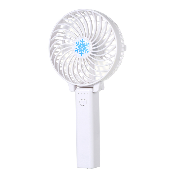 Portable Mini USB Fan Air Conditioning Fans Hand Held Cooling Fan Rechargeable Fan white