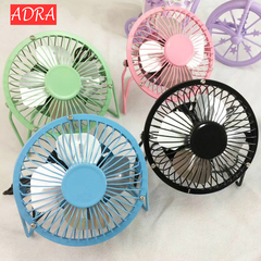 USB Fab Portable Desk Fan 4 Blades Cooler Cooling Fan USB Mini Fans  PC Laptop 4 Inch black