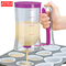 Cake Batter Dispenser with Measuring Label for Cupcakes Muffins Baking Tool pruple one size