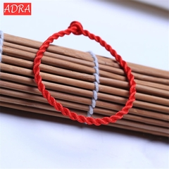 Lucky Bracelet Red Rope Bangle Anklet Jewelry Lucky Bracelets Handmade Jewellery For Women Men red one size