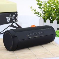 Waterproof Bass Portable Wireless Bluetooth V3.0 Speaker Flashlight TF Card black 2*3W one size