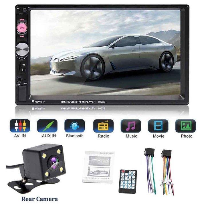 "7"" In Dash HD Touch Screen Bluetooth 2Din Car Radio MP5 MP3 Player FM Autoradio + Camera KAM"