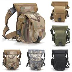 Tactical Military Leg Bag Men's Nylon Hip Drop Bel Weapons Waist Pouch Sport Ride Special Bag black one size